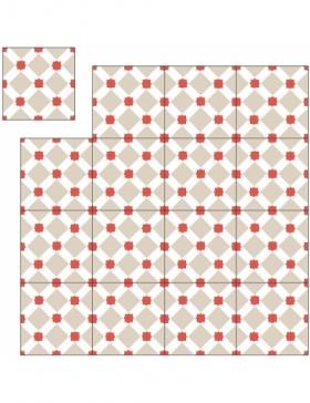 carreau de ciment hexagonal KP-287