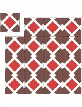 carreaux de ciment hexagonaux KP-292