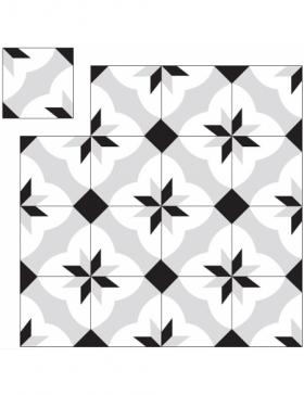 carrelage ciment noir et blanc KP-376