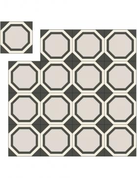 carrelage motif noir et blanc KP-378